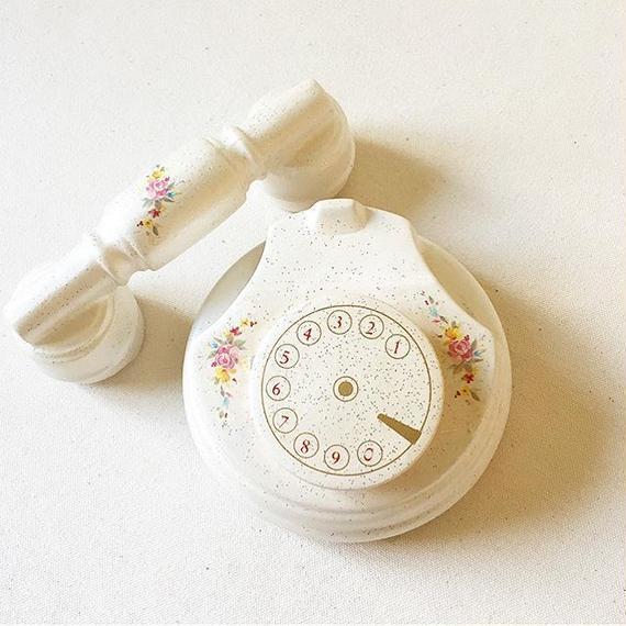 """Vintage Italian """"CREAZIONI"""" Telephone Ceramic Container"""