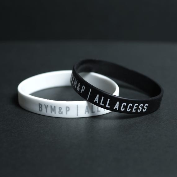 【Sale Item】BYM&P Silicone Wristband Set (Black, White)