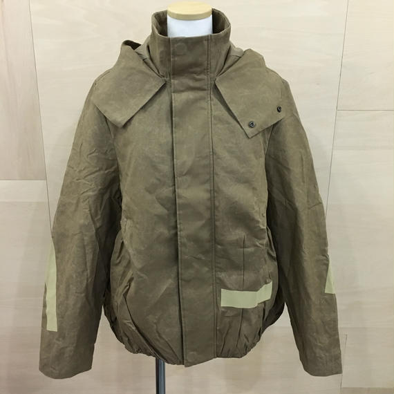 FFIXXED STUDIOS / 18AW M037 / SCRUNCHED BOMBER (CARDBOARD BROWN)