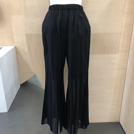 Graphpaper / GL181 40008 / Stripe Flare Pants (BLACK)