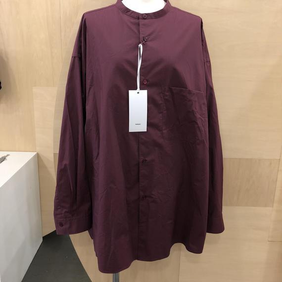 Graphpaper / Original Typewriter Band Collar Big Sleeve Shirt / GU181-50086