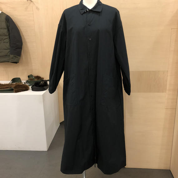 YAECA / 97155 ワークシャツドレス (BLACK)