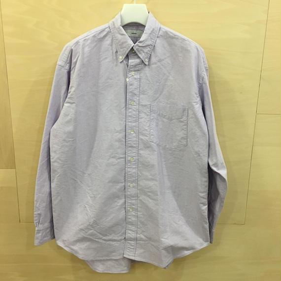 Graphpaper / GM191 50026B / Oxford L/S B.D Box Shirt (LAVENDER)