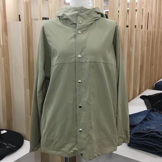 YAECA / 174107 / CLOTH HOODED SHIRT LONG (BEIGE)