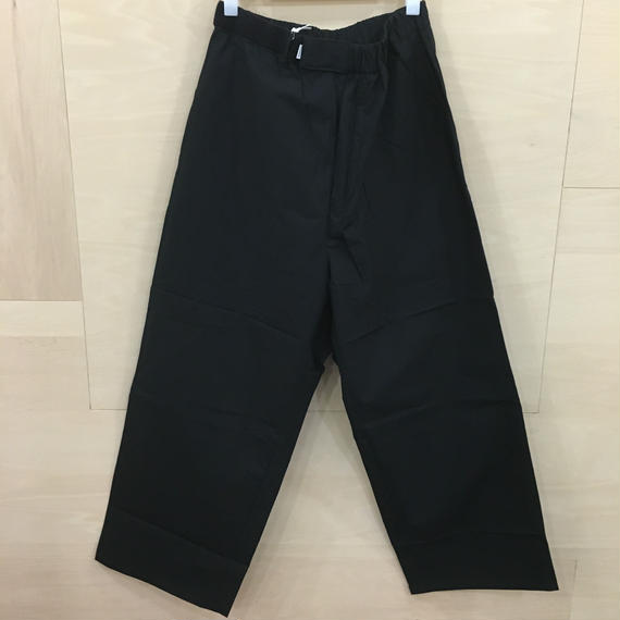Graphpaper  / GM182 40084  /  Typewriter Wide Cook Pants (BLACK)