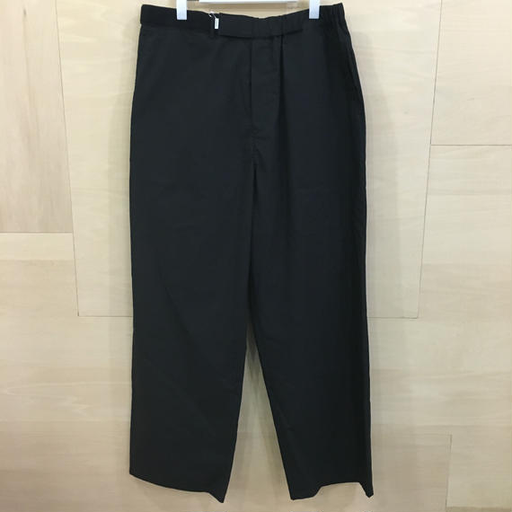 Graphpaper / GM191 40021B / Typewriter Wide Cook Pants (BLACK)