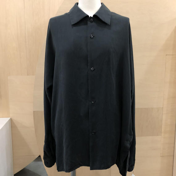 ETHOSENS / E118 203 / SILK SHIRT (BLACK)