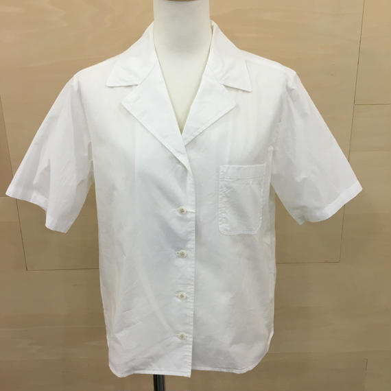 YAECA / 98120 / キャンプシャツ (WHITE)
