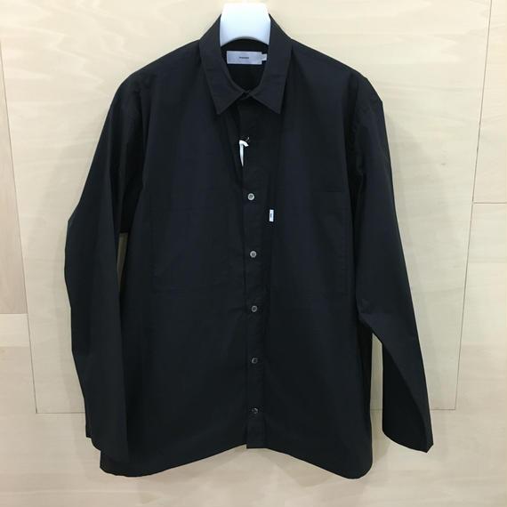 Graphpaper  / GM182 50510B / Typewriter Stretch Box Shirt L/S (BLACK)