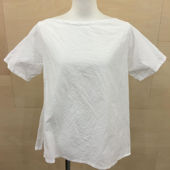 YAECA / 98112 / ラップブラウス S/S (WHITE)