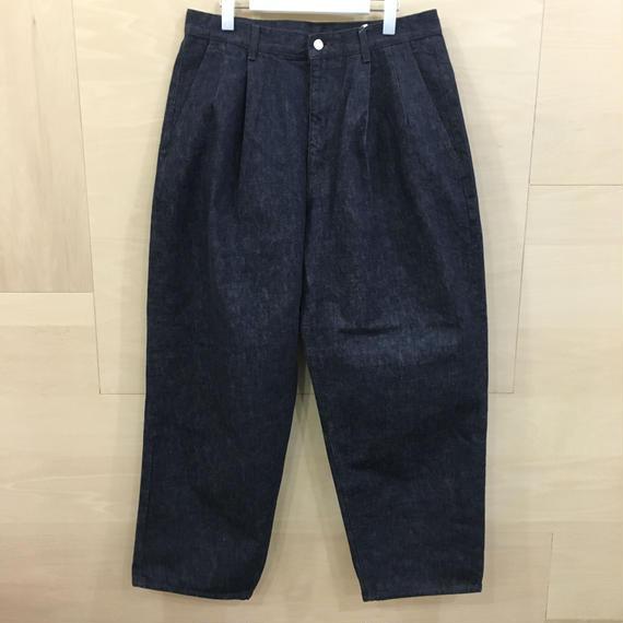 Graphpaper / GU191 40050B / Colorfast Denim Two Tuck Pants (INDIGO)