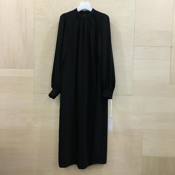 Graphpaper / GL191 60069 / Satin Puff Sleeve Dress (BLACK)