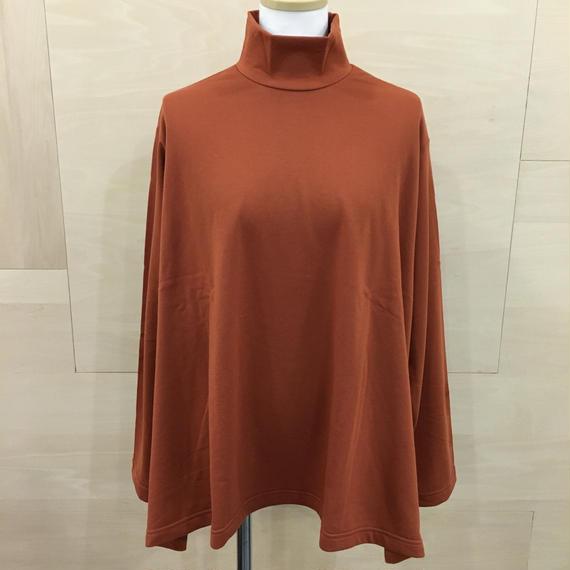 Graphpaper  / GL183 70033 / Lrregular Hem Hight Neck Sweat Shirt (BRICK)