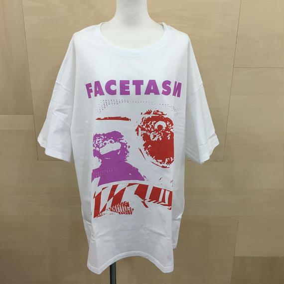 FACETASM /RB TEE U16 / COLLAGE FACETASM BIG TEE (MULTI/WHITE)