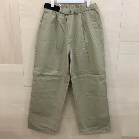 Graphpaper / GM191 40015 / Stevenson Wide Cook Pants (BEIGE)
