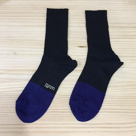 unfil / ONSP UW155 / Linen Thin Socks (NAVY)