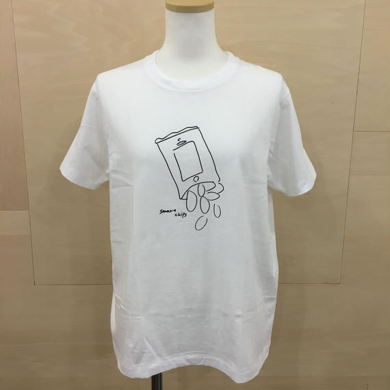 YAECA / 88007 / プリントTシャツ (CHIPS)