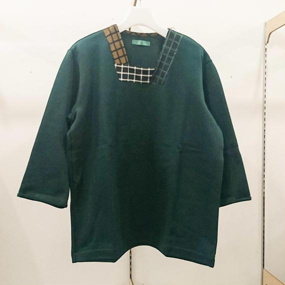 ohta / green 8 sleeve  /17ss-cs-07G