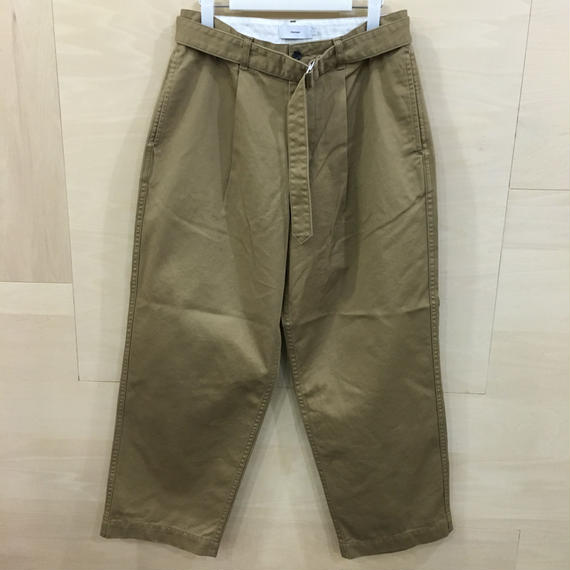 Graphpaper  / GU191 40049B / Chino Belted Pants (BEIGE)