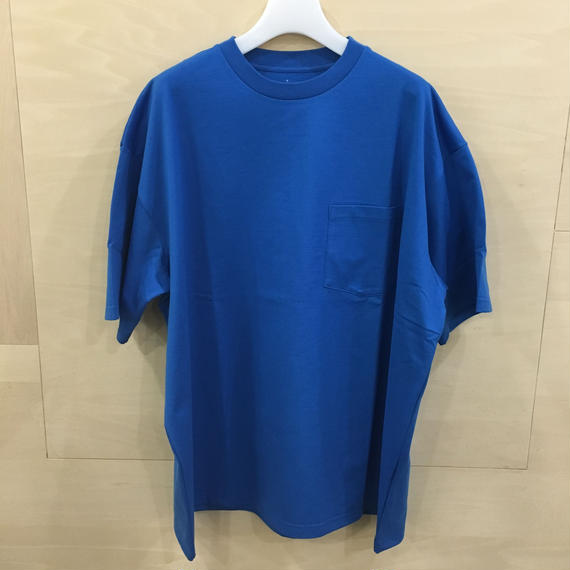 Graphpaper / GM191 70099B / Jersey Oversized S/S Pocket Tee (BLUE)