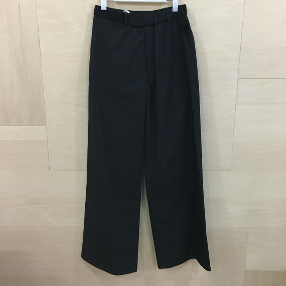 Graphpaper / GL191 40088B / Typewriter Wide Cook Pants (BLACK)