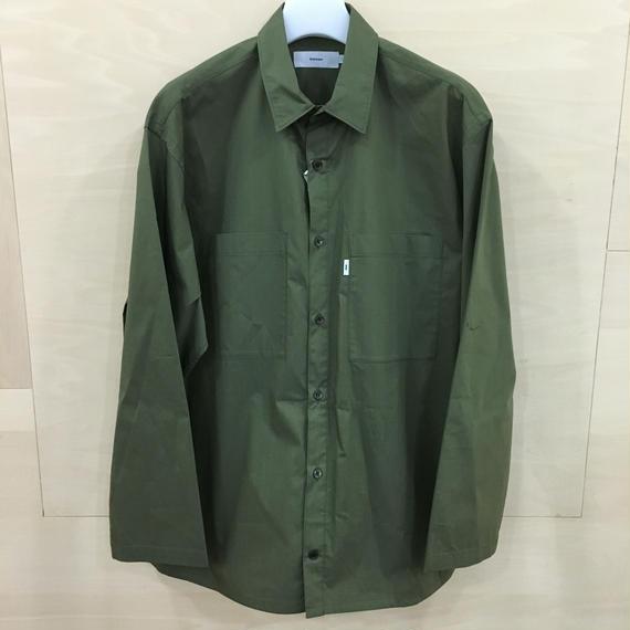 Graphpaper  / GM182 50510B / Typewriter Stretch Box Shirt L/S (KHAKI)