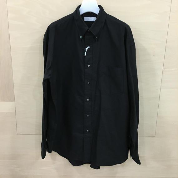 Graphpaper  / GM183 50066B / Oxford B.D Box Shirt (BLACK)