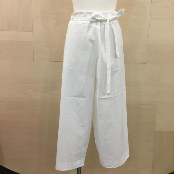 YAECA / 98608 / ベルトパンツ (WHITE)