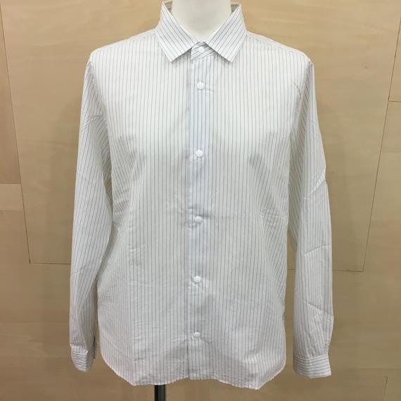 YAECA / 68103 / コンフォートシャツ リラックス (NAVY STRIPE)
