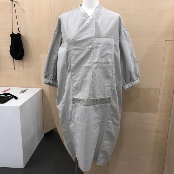 COSMIC WONDER / 07CW1715 / 有機栽培綿のポジャギフォークシャツ (LIGHT SUMIKURO)