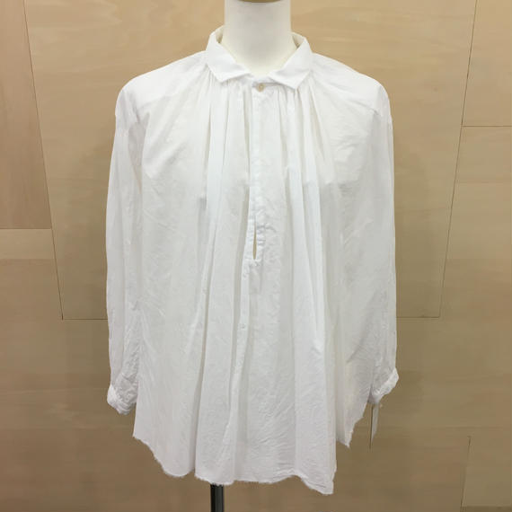 YAECA / 98106 / ギャザーブラウス (WHITE)