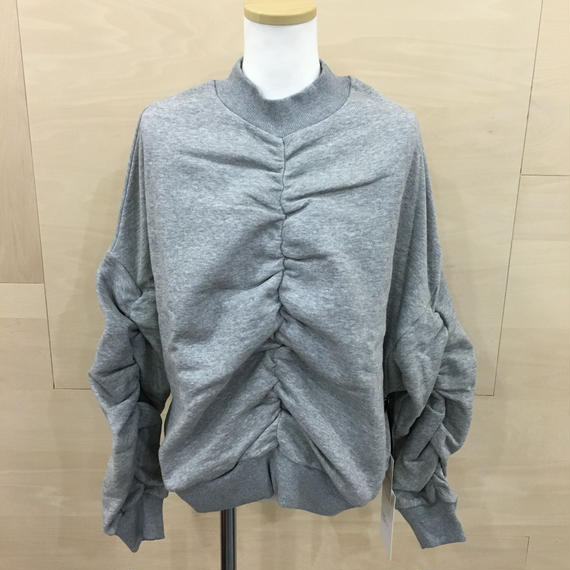 KLOKE / KLO440014A / Fuse Ruched Sweat (GRAY)