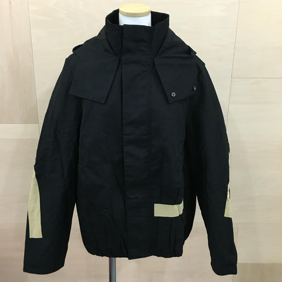 FFIXXED STUDIOS / 18AW M037 / SCRUNCHED BOMBER (BLACK)
