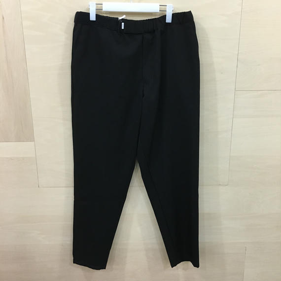 Graphpaper  / GM183 40092B / Selvage Wool Cook Pants (BLACK)