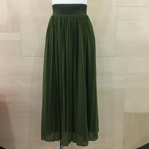 PLEATED LONG SKIRT (0LIVE)