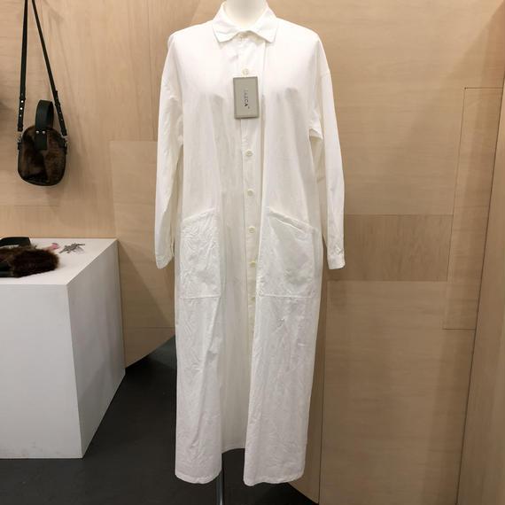 98101WHT ワークシャツドレス