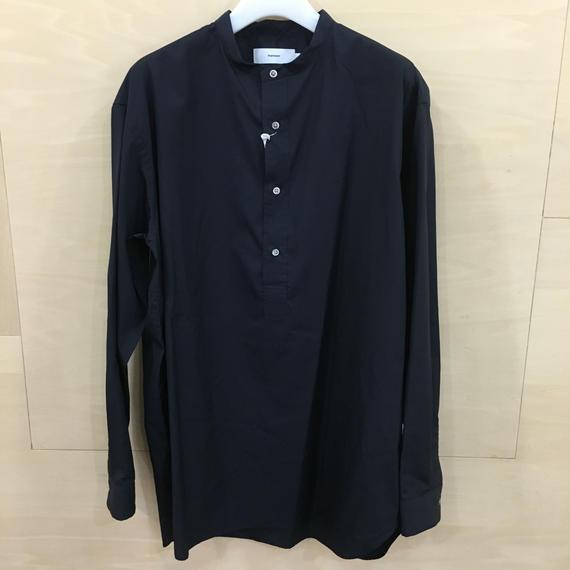 Graphpaper  / GM183 50070B / Band Collar Shirt (NAVY)