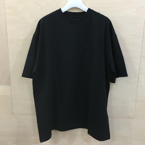 Graphpaper / GM191 70099B / Jersey Oversized S/S Pocket Tee (BLACK)