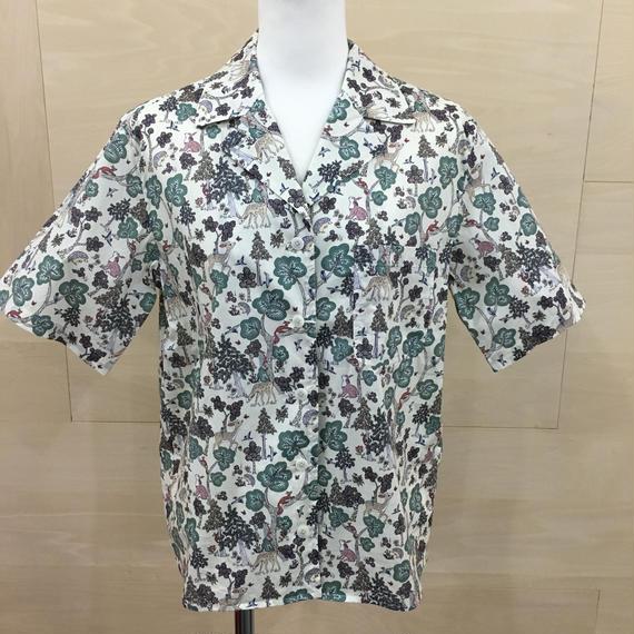 YAECA / 98120 / キャンプシャツ (DOE A DEER BEIGE)