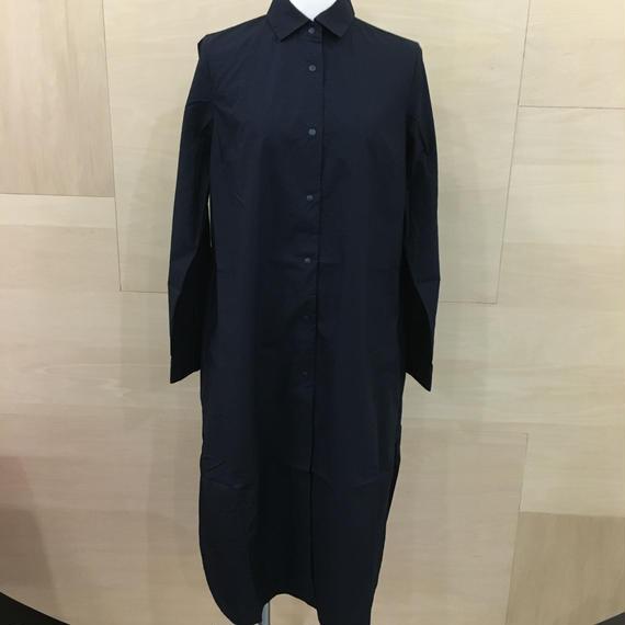 YAECA / 68121 / コンフォートシャツドレス (NAVY)