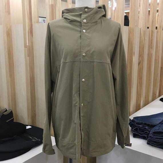 YAECA / 174107 / CLOTH HOODED SHIRT LONG (KHAKI)