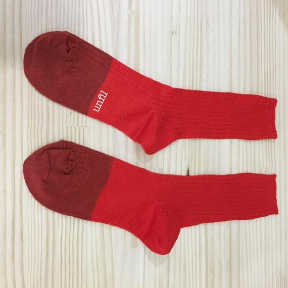 unfil / ONSP UW155 / Linen Thin Socks (RED)