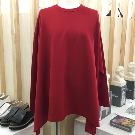 Graphpaper / GL173 7004 / Viscose Irregular Hem Pullover (RED)