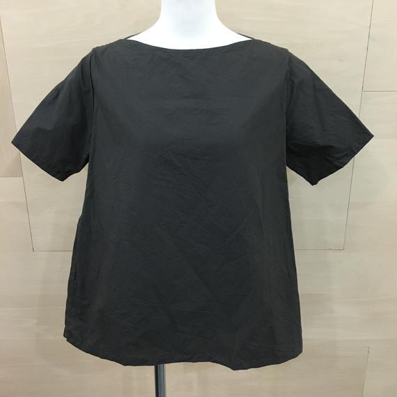 YAECA / 98112 / ラップブラウス S/S (BLACK)