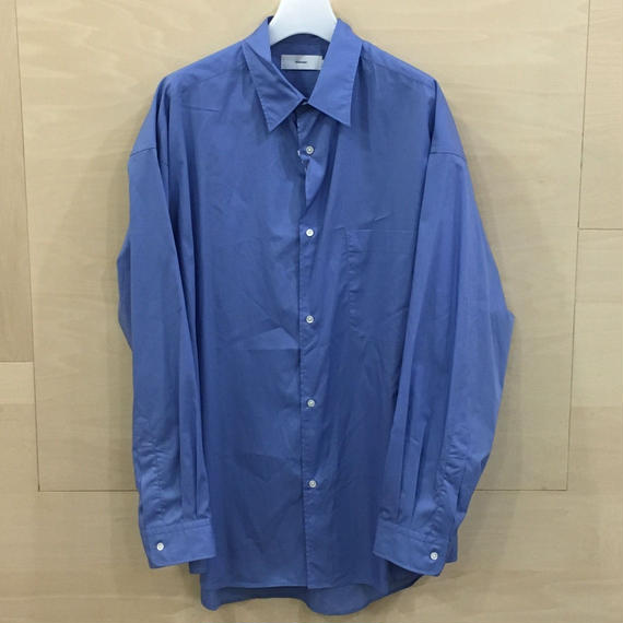 Graphpaper / GM191 50030 / Broad Oversized L/S Shirt (BLUE)