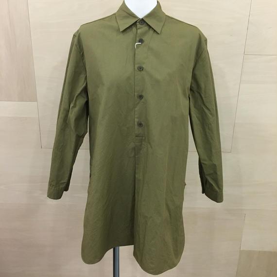 YAECA / 98103 / ボタンシャツ PO ロング (KHAKI)