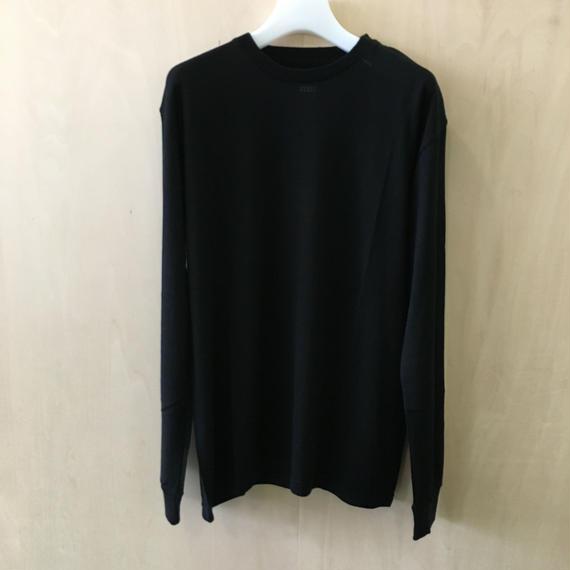 Graphpaper / GU173 7003B / Washable Wool Crew Neck Tee (BLACK)