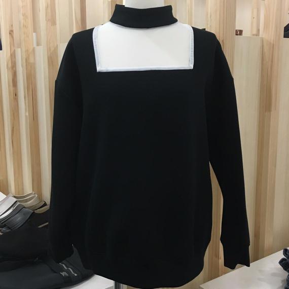 Graphpaper / Mesh-Paneled High Neck Pullover / GL173-7006