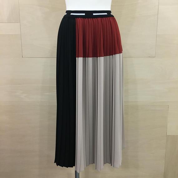 Graphpaper / GL18140072 / Block Pleats Skirt (RED)