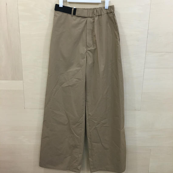 Graphpaper / GL191 40088B / Typewriter Wide Cook Pants (BEIGE)